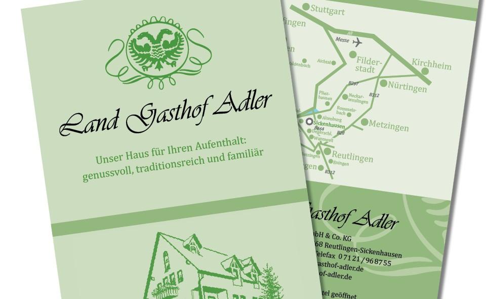 ks-mediendesign: portfolio, landgasthof adler, faltblatt